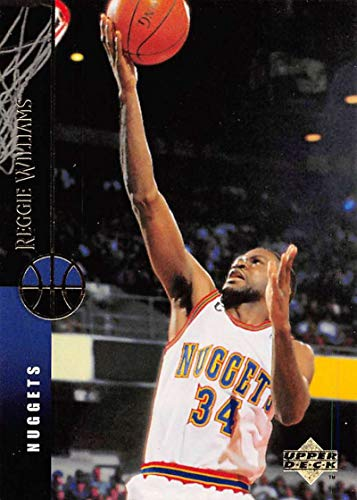 (1994-95 Upper Deck Basketball #348 Reggie Williams Denver Nuggets Official NBA Trading Card From UD)