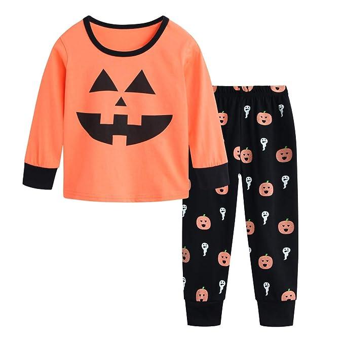 fcc424e73 Amazon.com  Csbks Toddler Kids Halloween Pajama Sets Boys Girls ...