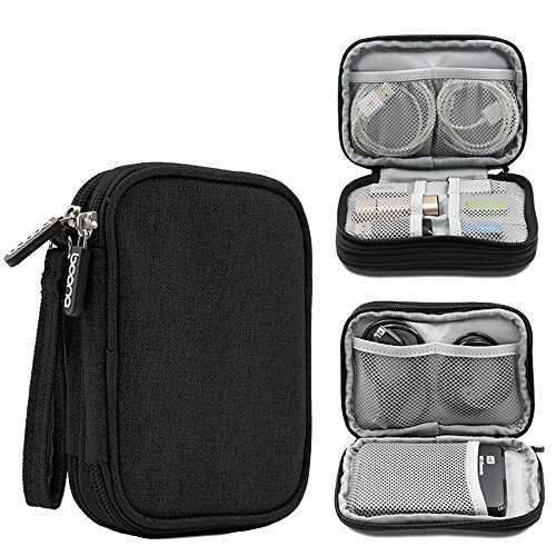 Honeystore Universal Double Layer Travel Gear Organizer Portable Electronic Accessories Storage Case Gadgets Organizer Bag for iPad Mini, USB Cable, Plug, Flash Drive, Charger, Earphone and More Black by Honeystore (Image #7)'