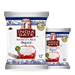 INDIA GATE Super Premium Basmati Rice | Aged Rice with Long Grains & Rich Aroma | 1 kg Pack with Extra 500g Free