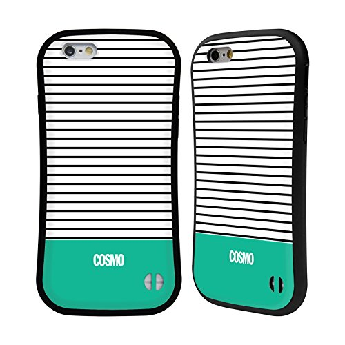 Official Cosmopolitan Teal 1 Stripes Collection Hybrid Case for Apple iPhone 6 / 6s