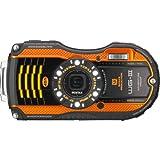 PENTAX 防水デジタルカメラ PENTAX WG-3 オレンジ 1cmマクロ マクロスタンド付属 絞り開放F2.0 PENTAX WG-3OR