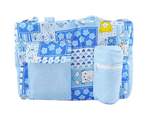 Ole Baby Big Amazing Striped Smart Organizer Best Material 100% Cotton, Multi Function Diaper Bag.