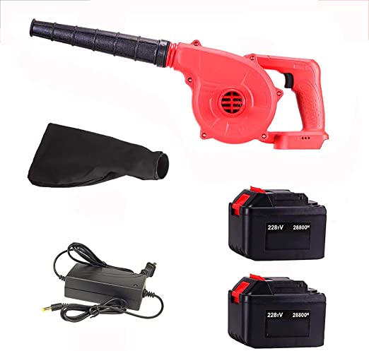 GYDXY Soplador Electrico - 1300W Soplador Aspirador/Soplador de Aire de Velocidad Variable/Mini Soplador de Hojas/Peso Ligero y Potente + Accesorios(Incluye batería y Cargador): Amazon.es: Hogar