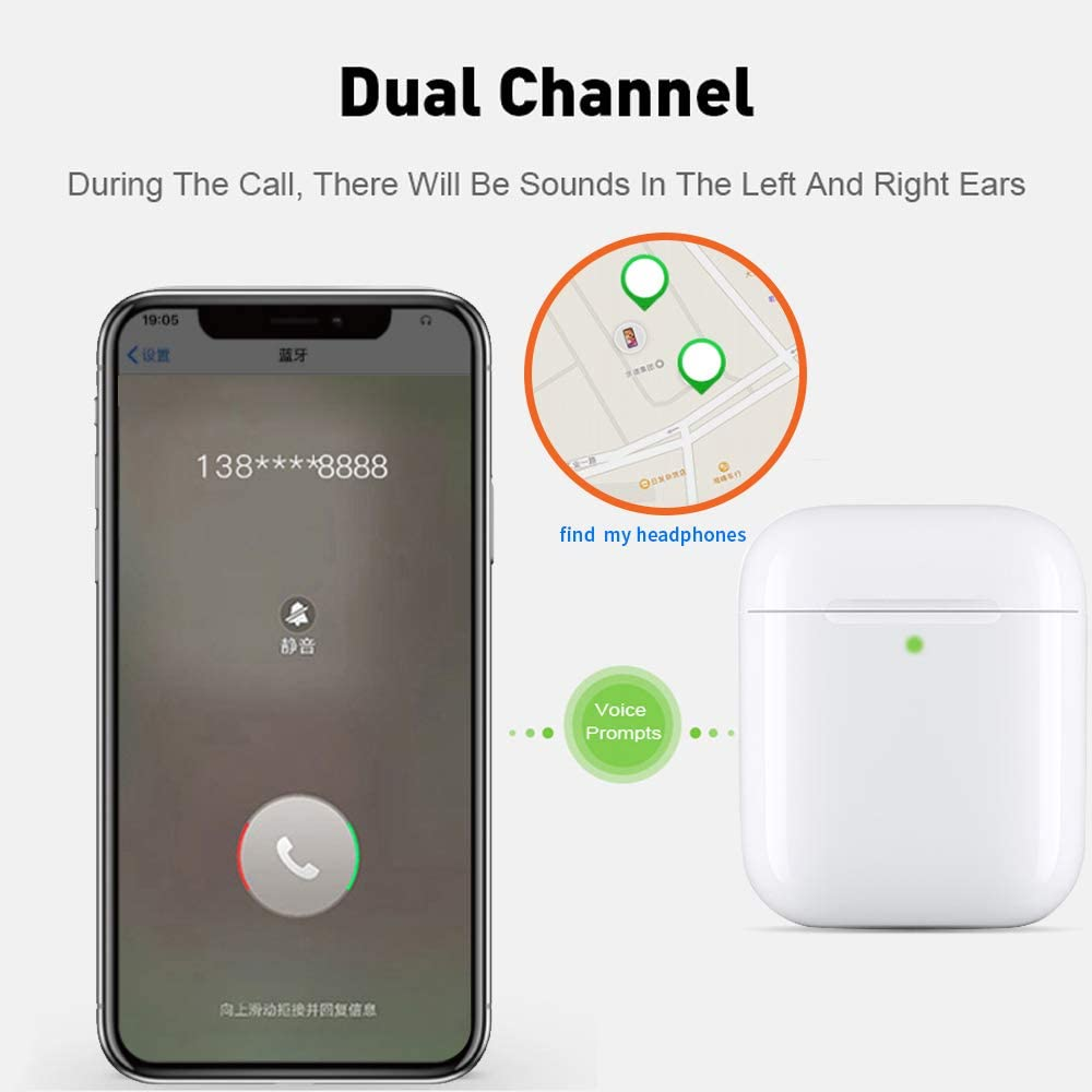 Original I500 Tws Air2 Earphone Wireless Find My Bluetooth Headset I9000 Sports Headphones Stereo Earbuds For All Mobile Devices Amazon Co Uk Electronics