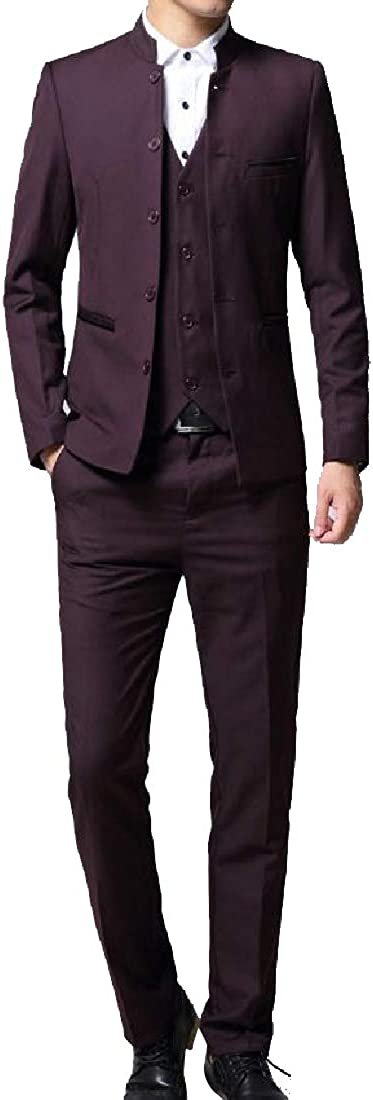 CuteRose Mens Suit Blazer Jacket Tux Vest /& Trousers 3-Piece Set