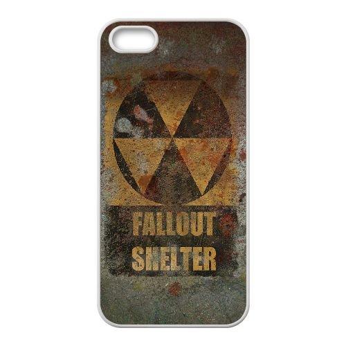 Fallout Shelter coque iPhone 4 4S Housse Blanc téléphone portable couverture de cas coque EOKXLLNCD13409