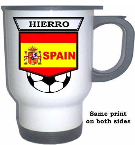 Fernando Hierro (Spain) Soccer White Stainless Steel Mug