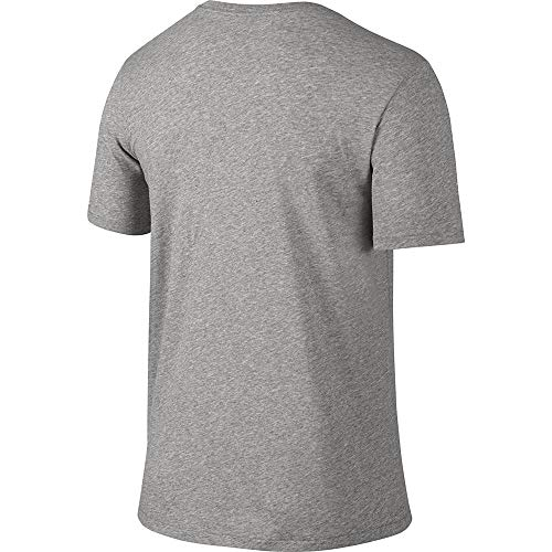 NIKE Men's Dri-FIT Cotton 2.0 Tee, Dark Grey Heather/Dark Grey Heather/Black, Small by Nike (Image #3)