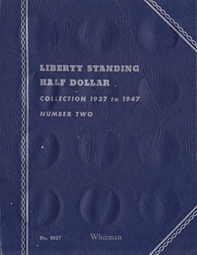 "1937-1947 LIBERTY WALKING HALF DOLLARS NUMBER TWO ""Whitman"" cover USED WHITMAN No 9027 COIN; Album, Binder, Board, Book, Card, Collection, Folder, Holder, Page, Portfolio, Publication, Set, Volume"