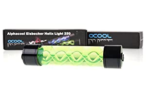 Alphacool 15318 Eisbecher Helix Light 250mm Reservoir - Green Water Cooling Reservoirs