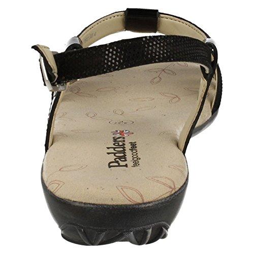 Padders - Zapatos con correa de tobillo mujer - negro