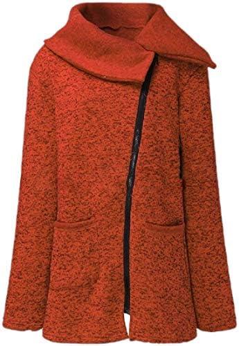 レディースロングスリーブ斜めジッパースウェットシャツ フリース アウトウェア コート