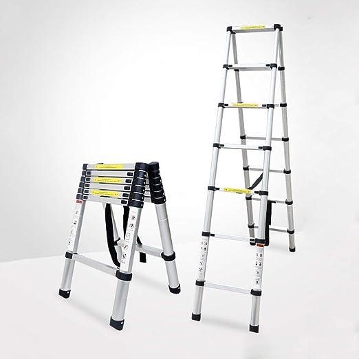 ZHWEI Escalera Plegable Escalera Plegable portátil A-Frame Escalera Multiusos de Aluminio telescópica Construcción Robusta (Size : 2m-ATypeLadder): Amazon.es: Hogar