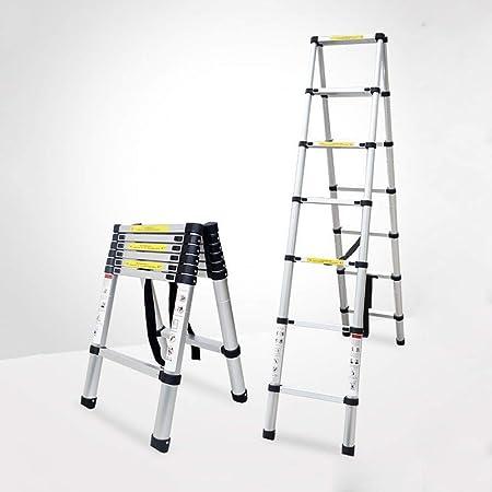 H.ZHOU Escalera Plegable Escalera Plegable portátil A-Frame Escalera Multiusos de Aluminio telescópica Multifuncional (Size : 3.2m-ATypeLadder): Amazon.es: Hogar