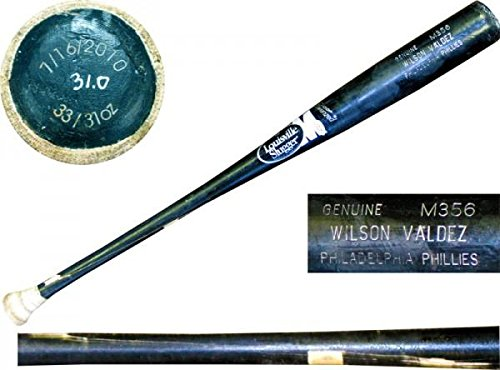 Wilson Valdez Unsigned Cracked Game Used Bat - MLB Autographed Game Used Bats (Mlb Unsigned Bats)