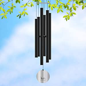 Give Me Wind Chimes Outdoor, 32'' Metal Wind Chimes with 6 Aluminum Tubes - Large Deep Tone for Garden Patio & Home, Best Gift Wind Chimes for Women Music Wind Chimes - Soft and Relaxing Sound