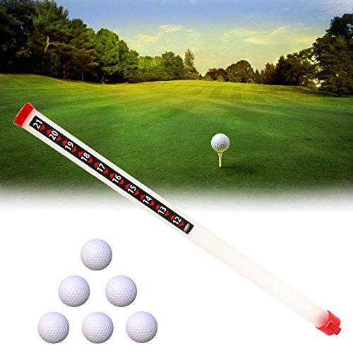 HITSAN Portable Outdoor Golf Ball Picker Sport Practice Shagger Pick-Ups Tube Retriever One Piece
