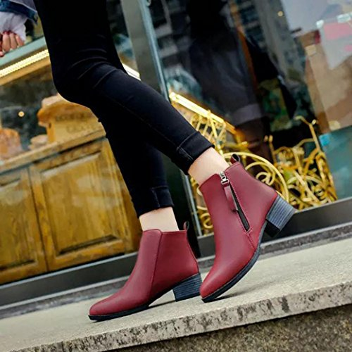 Inkach Women Shoes Vintage Fashion Ankle Boots Women Boots