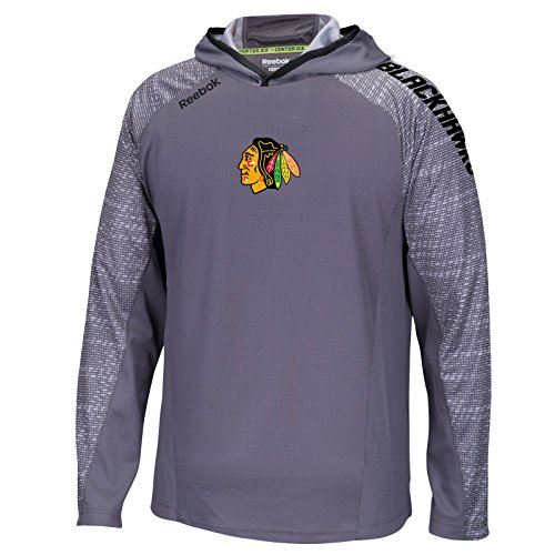 Chicago Blackhawks Granite TNT Reebok Speedwick Synthetic Training Hoodie