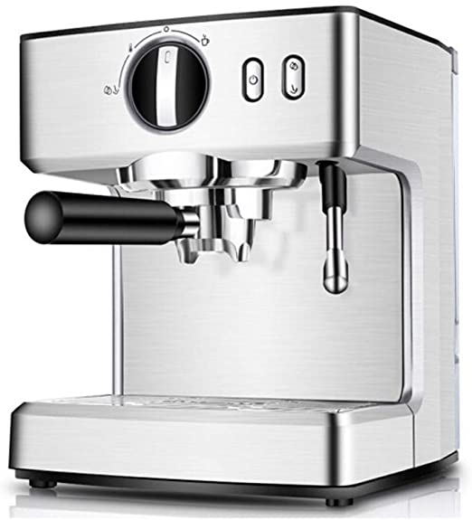 JLL Máquina de café Espresso, cafetera Cappuccino con vaporizador de Leche, máquina de café con Leche y Moka de 15 Bares, Acero Inoxidable, Tapa Caliente for Colocar Tazas, 1100W: Amazon.es: Hogar