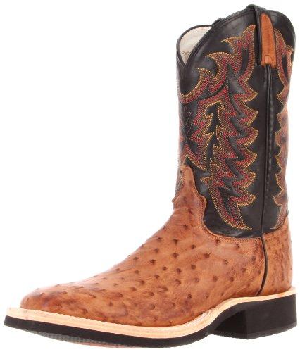 Tony Lama Men's Full Quill Ostrich 8987 Boot,Dark Brown/Black Throroughbred,8.5 D US