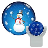 Projectables 11362 Christmas Snowman LED Plug-In Night Light, Auto On/Off, Light Sensing, Projects Cheerful Snowman Image on Ceiling, Wall or Floor