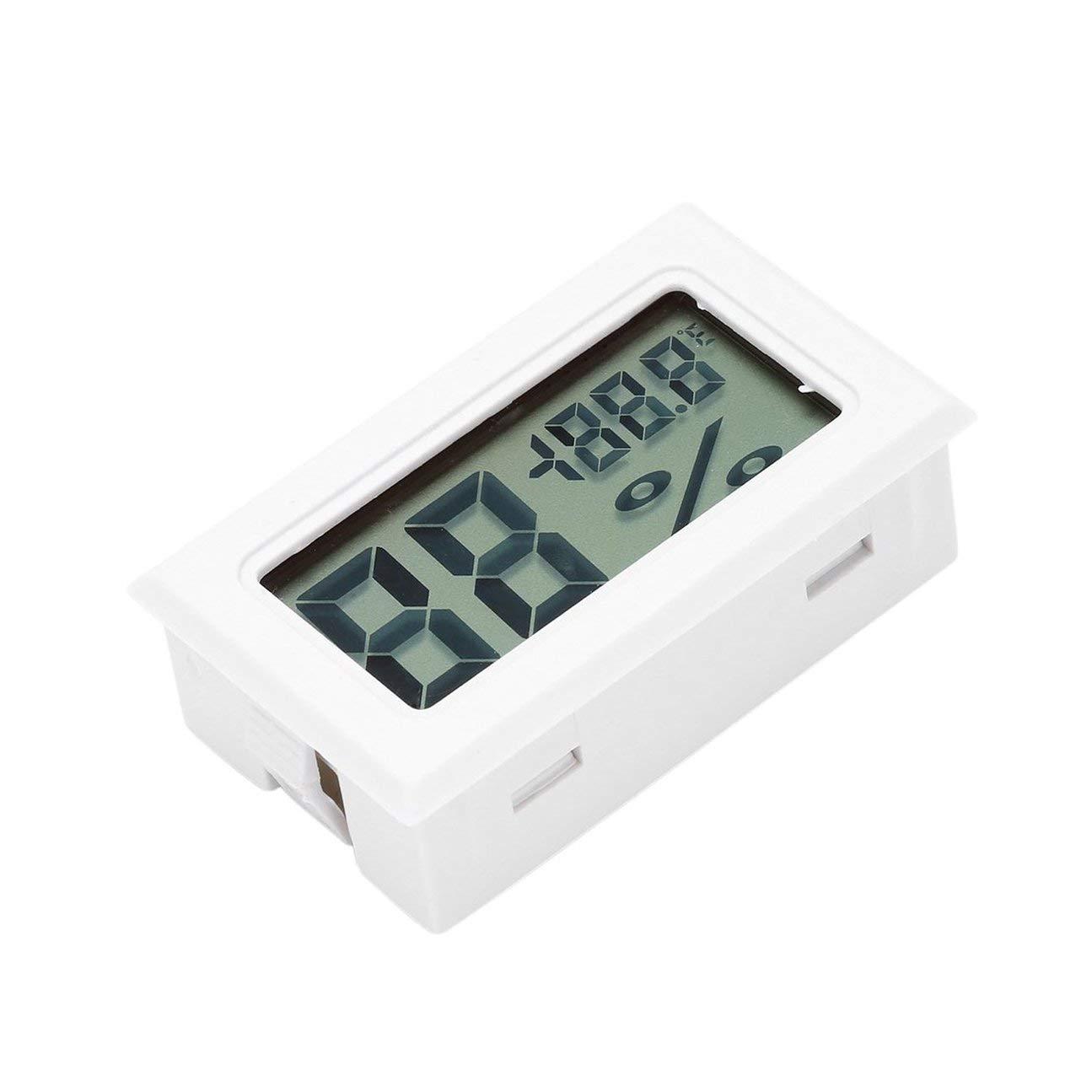 bvggfhcvbcgvh Professional Mini Digital LCD Thermomètre Hygromètre Humidité Température Mètre Intérieur Numérique LCD Capteur (blanc)
