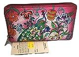 Biacci Leather Fluttering Peacock Slim Zip Round Ladies' Wallet, NWT