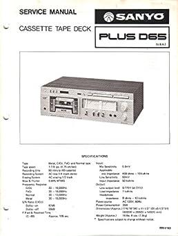 sanyo plus d65 cassette tape deck service manual sanyo electric inc rh amazon com Golf Cart Engine Repair Manual Western Golf Carts Parts Manual