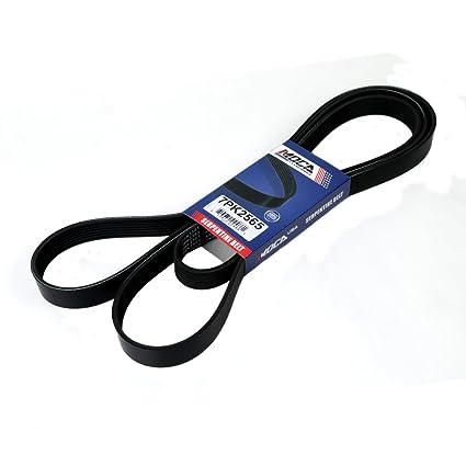 amazon com: moca 7pk2565 epdm serpentine belt fits dodge durango & ram 2500  5 7l 8 0l ohv 4-door: automotive