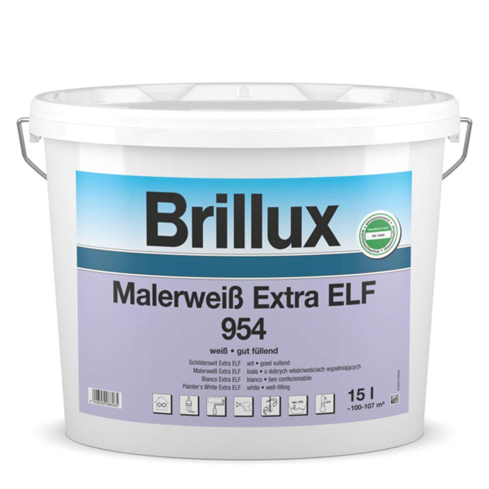 Brillux Malerweiß Extra Elf 954 15 Ltr