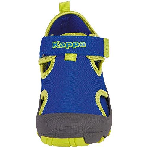 Kappa Unisex-Kinder Joy Kids Riemchensandalen Blau (6033 Blue/Lime)