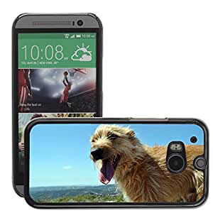 GoGoMobile Slim Protector Hard Shell Cover Case // M00124286 Dog Friend Mountain Animals Pet // HTC One M8