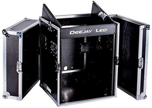 Vertical Rack System - DEEJAYLED TBH Flight CASE 10U Slant Mixer 12U Vertical Rack System with Full AC Door (TBHM12U