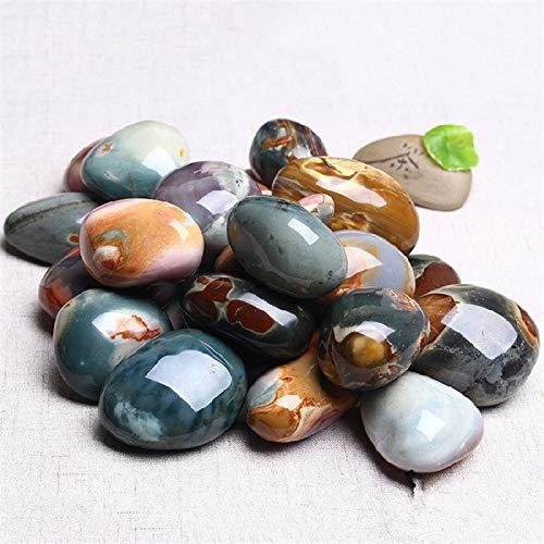 Gold Happy Natural Stones Ball Ocean Jasper Round Mineral Ore Specimen Agate Crystal Quartz Home Desk Decorations by Gold Happy