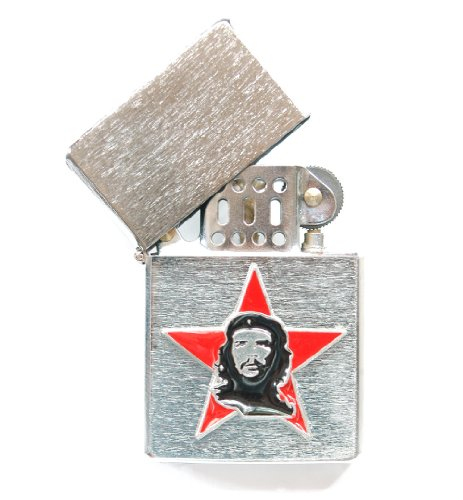 89cc710f618 Che Guevara Store Lighter Silver Brushed Metal Che on Red Star