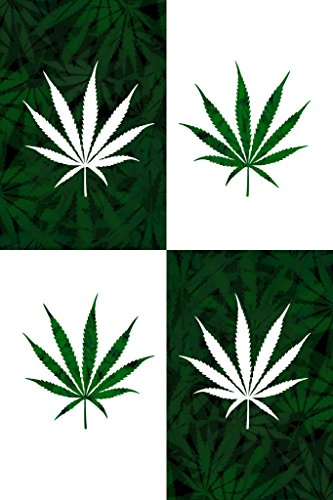 Marijuana Leaf Pop Art Print Poster 12x18