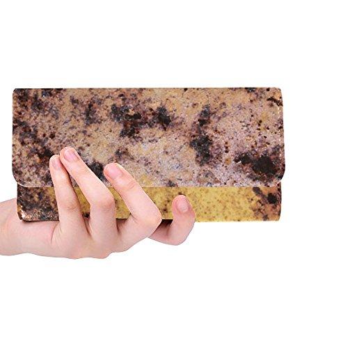 - Unique Custom Rust Rusted Metal Deposit Rusty Red Auburn Women Trifold Wallet Long Purse Credit Card Holder Case Handbag