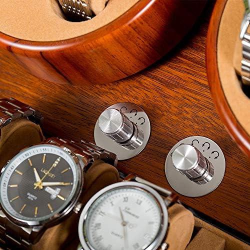 JQUEEN 4 Automatic Watch Winder with 6 Storage Case