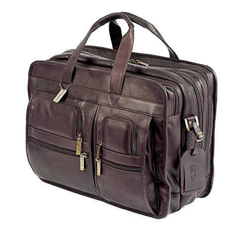 Executive Brief Bag (Claire Chase Jumbo Executive Computer Brief, Cafe)