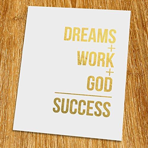 dream-work-god-success-gold-print-unframed-christian-art-gold-foil-print-gold-foil-art-8x10-tc-008g