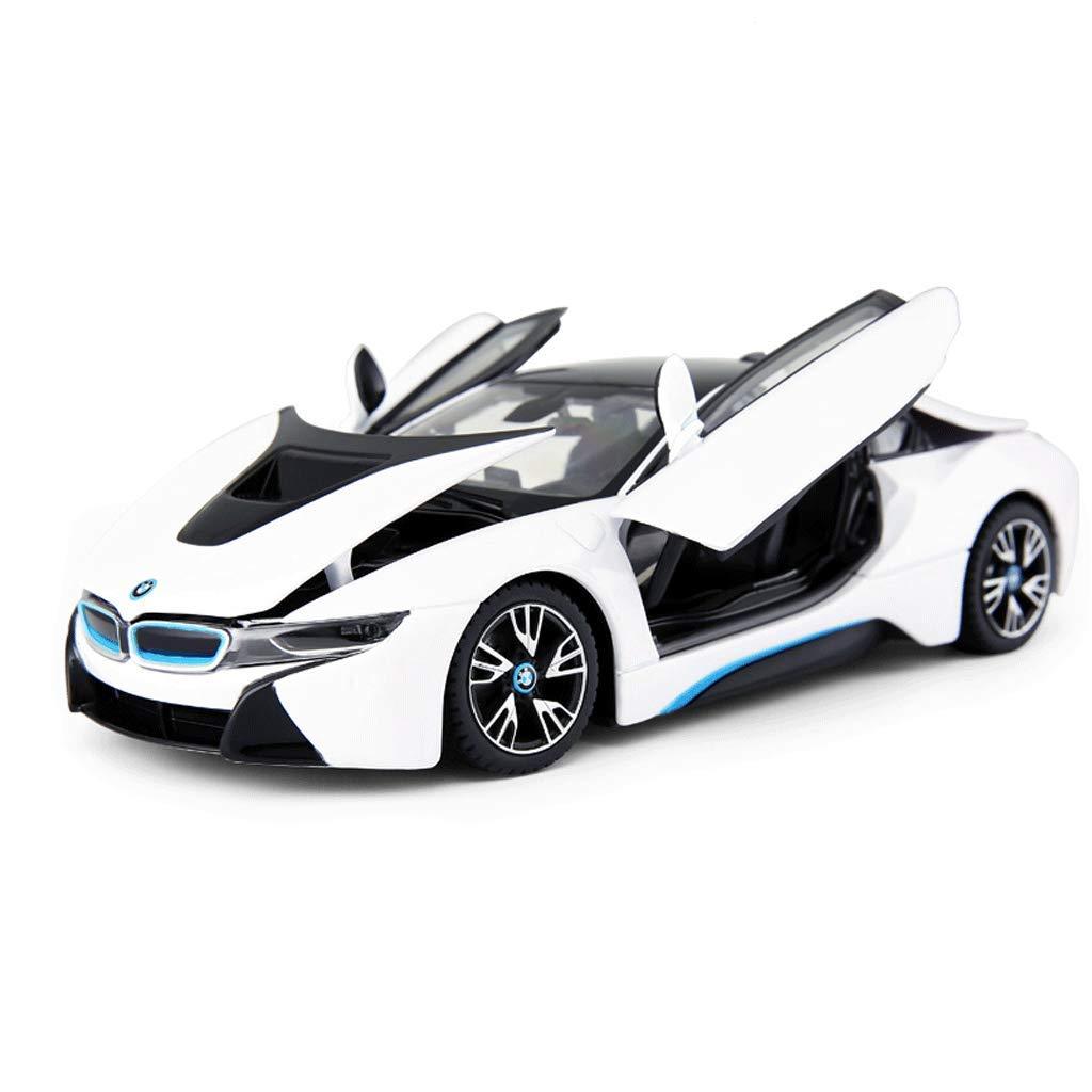 GYZS-TOY BMW I8 Sportwagen-Legierung Automodell Ornamente Simulation Simulation Simulation Original autorisierte Sammlung (Farbe : Blau) 9a392e