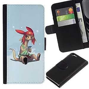 All Phone Most Case / Oferta Especial Cáscara Funda de cuero Monedero Cubierta de proteccion Caso / Wallet Case for Apple Iphone 6 // Cartoon Character Anime Technology Big Ears