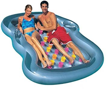 Delightful Inflatable Pool Lounger, Includes Cup Holder And Cooling Compartment
