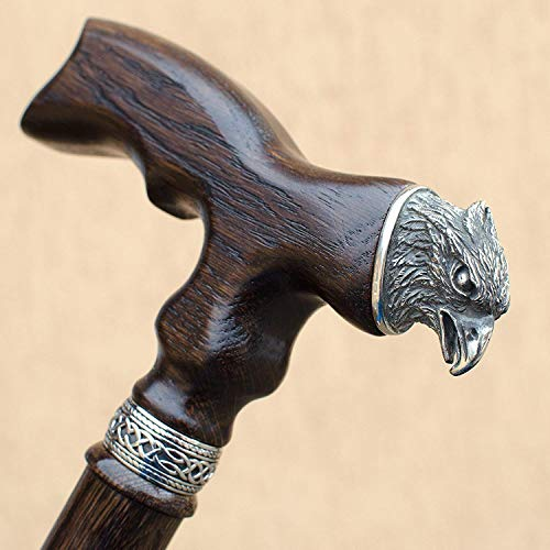 Walking Canes for Men - Eagle - Fancy Wooden Fashionable Cane - Handmade Carved Stylish Men's Walking Cane ()