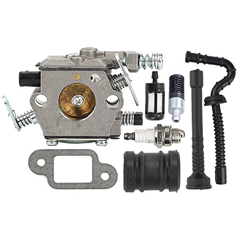 Butom MS250 Carburetor with Fuel Oil Line Filter Muffler Gasket for STIHL 021 023 025 MS210 MS230 MS 250 Chainsaw (Line Muffler)