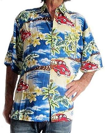 Chillón Hawaiian Hombre Camisa con VINTAGE COCHE Y ESTAMPADO DE PALMERAS XXL: Amazon.es: Ropa y accesorios