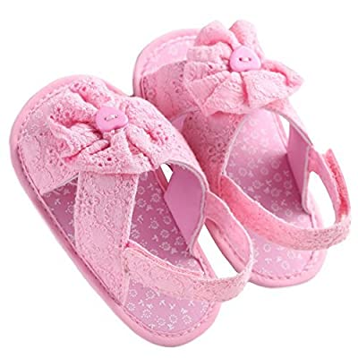 WAYLONGPLUS Baby Girl's Prewalker Summer Cotton Soft Sole Non-slip Baby Shoes : Baby