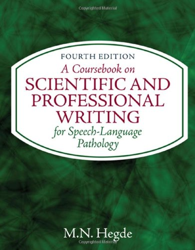 A Coursebook on Scientific and Professional Writing for Speech-Language Pathology (Applied English)